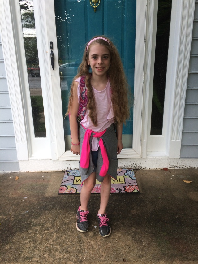 Livvy 1st day 3rd grade - 1